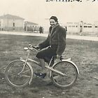la zia maria in bicicletta durante la guerra.....nelle campagne emiliane... by Guendalyn