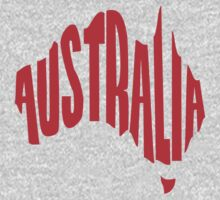 Australia in the shape of Australia Kids Clothes