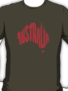 Australia in the shape of Australia T-Shirt