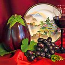 Eggplant Still Life by heatherfriedman