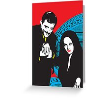 Gomez and Morticia, True love Greeting Card