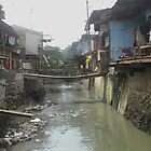 Shanty town Cebu City Philippines near SM Mall by Dave P