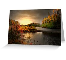 Glow On The Willamitte River Greeting Card