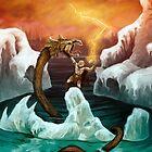 Thor versus Jörmungandr by Crusader