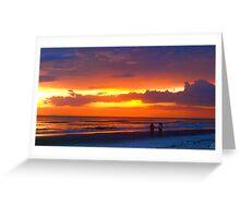 Beach romance Greeting Card