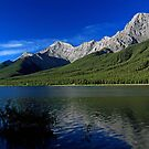 Spray Lake in morning by Michael Collier
