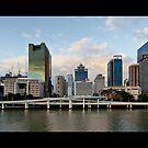 Brisbane CBD panorama, from Southbank by Richard Majlinder