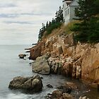 Bass Harbor Head Lighthouse at High Tide by Mark Van Scyoc