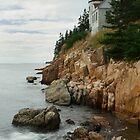 Bass Harbor Head Lighthouse at High Tide by Mark Van Scyoc