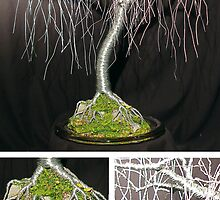 Gentle Willow - Wire Tree Sculpture  by Sal Villano
