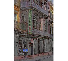 "New Orleans - Bourbon Street with ""Pencil"" Effect Photographic Print"