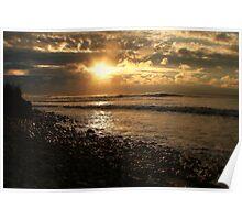 Sunrise at Ditch Plains Poster