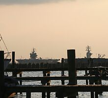 At The Marina With Naval Ships behind it by camerawoman1