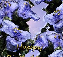 Lavender Wild Flowers Birthday by Terri Chandler