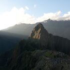 Sun setting on Machu Picchu and Huayna Picchu by richardwalsh
