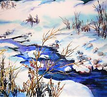 Snowy stream (sold) by bettymmwong