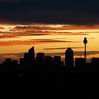 Stormy Sunset over Sydney 2 by Nick Wilsher