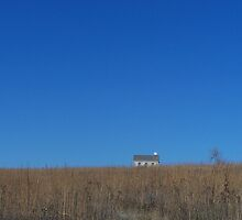 Schoolhouse, Tall Grass Prairie, Flint Hills, KS by Lucy Albert