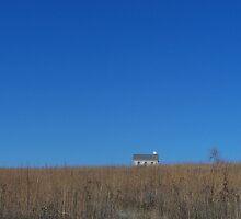 Schoolhouse, Tall Grass Prairie, Flint Hills, KS by Lucy Albert