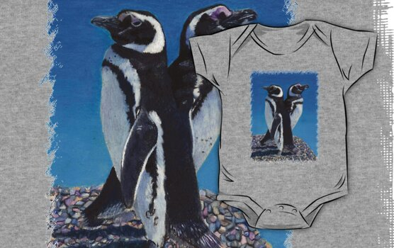 Cute Penguins T-Shirt by Patricia Barmatz
