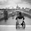 Invisible ..... Millennium Bridge, London by DaveTurner