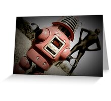 Retro Toy Robby Robot 05 Greeting Card
