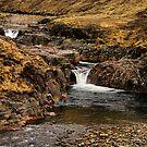 Glen Etive Waterfall by jacqi