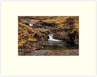 Glen Etive Waterfall by jacqi
