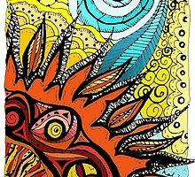 Doodle- sun, coloured by KalonaCreations