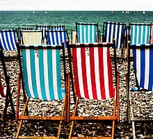 Seafront Deckchairs - Beer, Devon by Ben Sharman