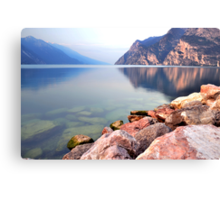 Prime ore del mattino sul Lago di Garda Canvas Print