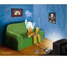 Gingerbread Man laid back Photographic Print