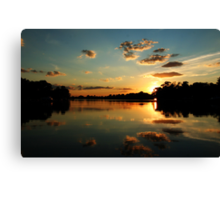 August Setting Sun Canvas Print