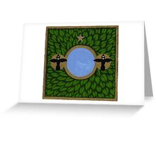 Magpie Two (Oracle card) Greeting Card