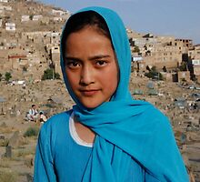 Blue  beautiful  Lady  , Kabul    Afghanistan by yoshiaki nagashima