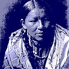 Cheyenne young woman blue by OTIS PORRITT