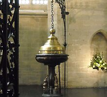 Baptismal fount - Cathedral of St Michael, Brussels by jeffwild