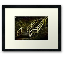 Stairs to Redcliffe. Queensland. Australia. Framed Print