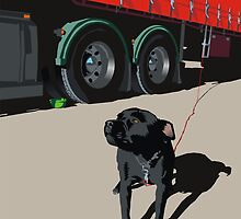 trucker's dog by Matt Mawson