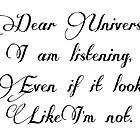 Dear Universe by AnnabelHC