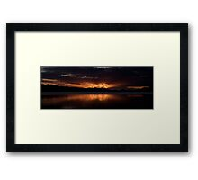 Burn For You (25 Exposure HDR Panorama) 2nd Cut -Narrabeen Lakes, Sydney - The HDR Experience Framed Print