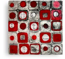 Musical Squares Canvas Print
