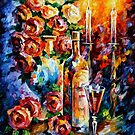 RED WINE by Leonid  Afremov