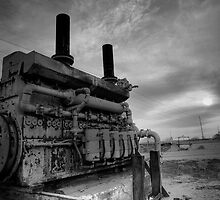 An irrigation engine in black n white for atomsphere by raceman