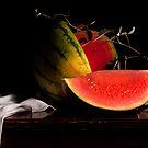 Watermelon & Wild Blackberry Branch by Rachel Slepekis