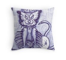 Hidden Kitty Throw Pillow