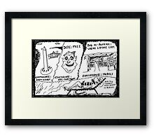 Earthquakes of late August Framed Print