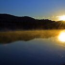 Misty morning on the Flathead River by amontanaview