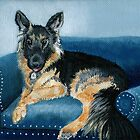 German Shepherd Angus by Yvonne Carter