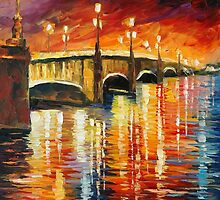INFINITY OF PERCEPTION - original oil painting on canvas by Leonid Afremov by Leonid  Afremov